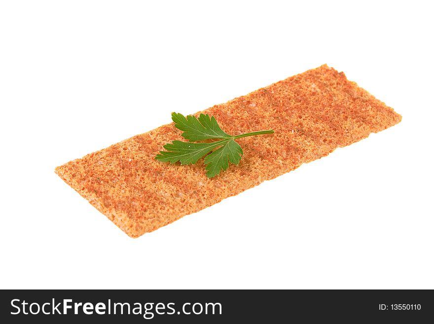Thin crispbread with parsley