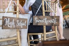 Free High School Sweethearts Signage Stock Photos - 135538913