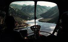 Free View From Helicopter Cockpit Royalty Free Stock Photos - 135588718