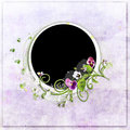Free Round Violet Spring Frame With Colour Heartsease Royalty Free Stock Photo - 13566155