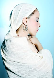 White Robe Royalty Free Stock Images
