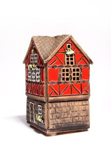 Free Little Toy House Isolated Stock Photography - 13560642