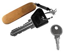 Free Two Keys With Open Keychain Royalty Free Stock Photos - 13560808