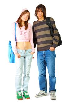 Free Young Woman And Man Stock Photo - 13560840
