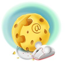 Abstract Illustration Of A Cheese As A Computer A Stock Image