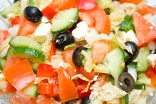 Close-up Greek Salad Stock Images