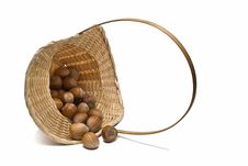 Free A Basket With Hazelnuts. Stock Photos - 13561553