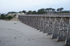 Free Wooden Bridge Over Beach Stock Images - 13561854