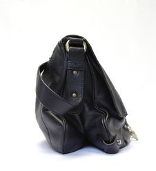 Black Woman Leather Bag Royalty Free Stock Photos