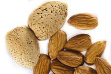 Free Almonds With And Without Shells Stock Photography - 13566172