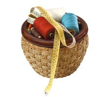 Free Basket With Threads Royalty Free Stock Images - 13566349