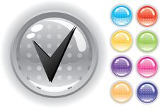 Internet Icon And Buttons Set Royalty Free Stock Image