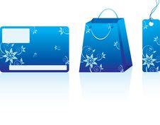 Free Blue Shopping Set Stock Photo - 13566930