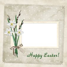 Easter Card For The Holiday With Egg Royalty Free Stock Photo