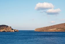 Free View Of Spinalonga Island In Crete. Stock Images - 13567154
