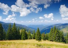 Mountain Landscape In The Summer Royalty Free Stock Photo