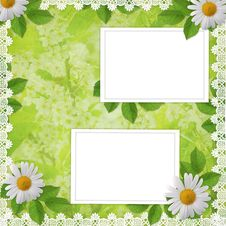 Card For Invitation Or Congratulation With Flowers Stock Photography