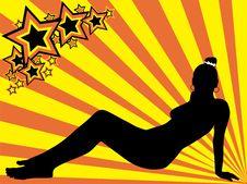 Free Girl Silhouette Stock Photos - 13568163