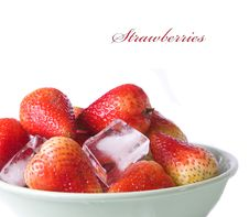 Free Ice Cubes And Strawberries Stock Photo - 13568610