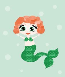 Free Merry Mermaid Royalty Free Stock Photography - 13569067