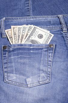 Free Money In The Pocket Stock Photography - 13569352