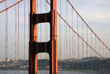 Free View Through The Golden Gate Bridge Stock Photography - 13569422