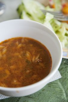 Spicy Libyan Soup Royalty Free Stock Photo