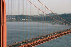 View Through The Golden Gate Bridge Royalty Free Stock Photos