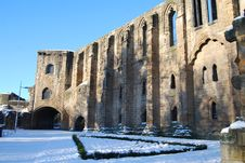 Free Abbey In Winter Stock Image - 13569791