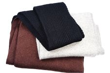 Free Three Woolly Scarfs Stock Photography - 13569792