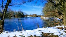 Free Winter, Water, Snow, Reflection Royalty Free Stock Images - 135689949