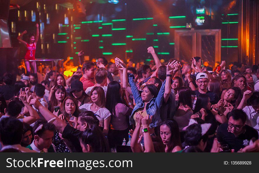Crowd, Audience, Entertainment, Nightclub