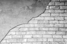 Free Black And White, Wall, Monochrome Photography, Brick Stock Image - 135690201