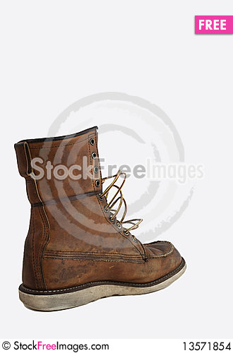 Grungy Boot Stock Photo