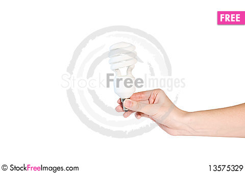Free A Better Light Bulb With Hand Royalty Free Stock Images - 13575329
