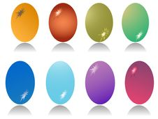 Free Set Of Eight Easter Egg Royalty Free Stock Images - 13570919