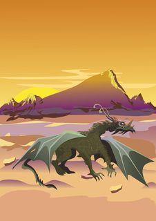 Free Desert Dragon Stock Photography - 13571102