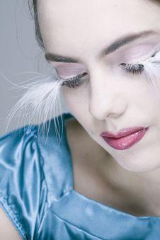 Free Woman With Long Eyelashes Royalty Free Stock Photos - 13571478