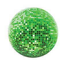 Free Disco Sphere Green Royalty Free Stock Photo - 13572105