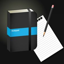 Free Notepad, Paper, Pencil Royalty Free Stock Photo - 13572385