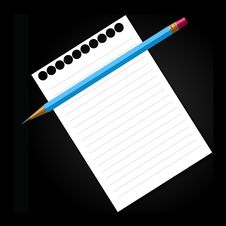 Free Pencil And Notepad Royalty Free Stock Photo - 13572405