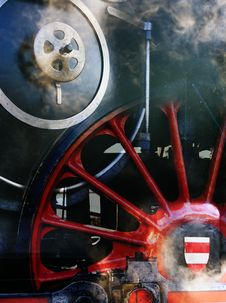 Abstract - Steam Locomotive Royalty Free Stock Photography