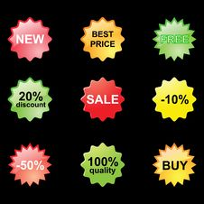 Free Discount Stickers Stock Image - 13572781