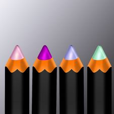 Free Color Pencils Stock Photography - 13572782