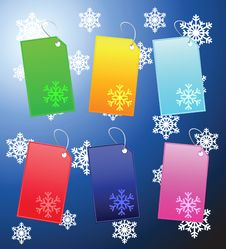 Multi Color Label XMAS Stock Photo