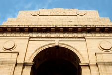 Front Of The India Gate Monument, New Delhi, India Royalty Free Stock Photo
