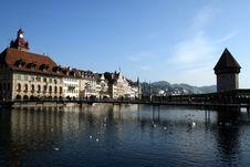 Free Chapel Bridge Lucerne Stock Photo - 13572990