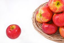 Free Red Apples On A Basket Stock Photos - 13573093