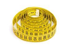 Free Yellow Measuring Tape Royalty Free Stock Photo - 13574605