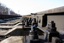 Free Rails, Bolts And Ties Stock Photography - 13575052